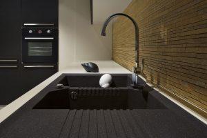black kitchen designer sink